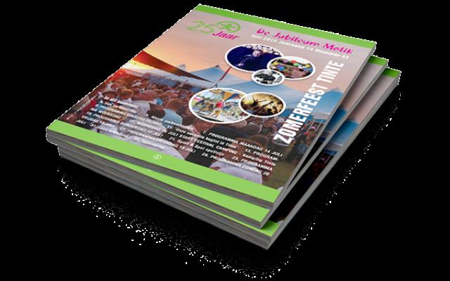Cover jubileum magazine 25 jaar zomerfeest Tinte