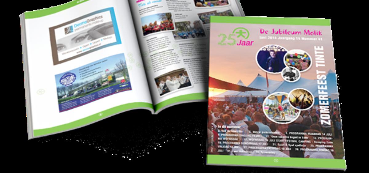 jubileum magazine 25 jaar zomerfeest Tinte
