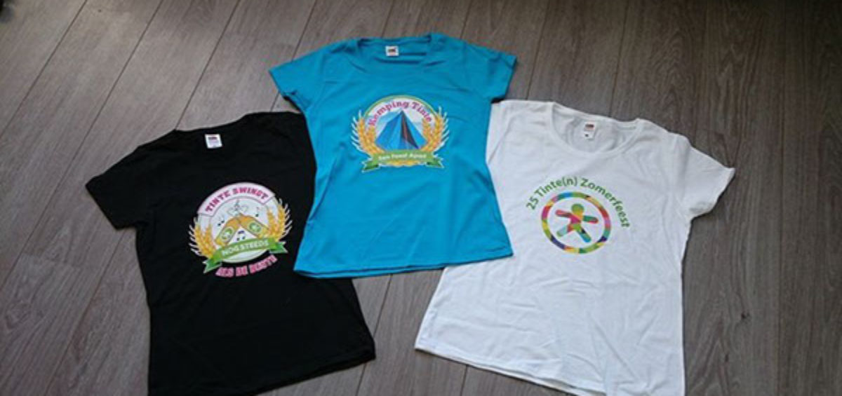 Tshirts 25 jaar zomerfeest Tinte