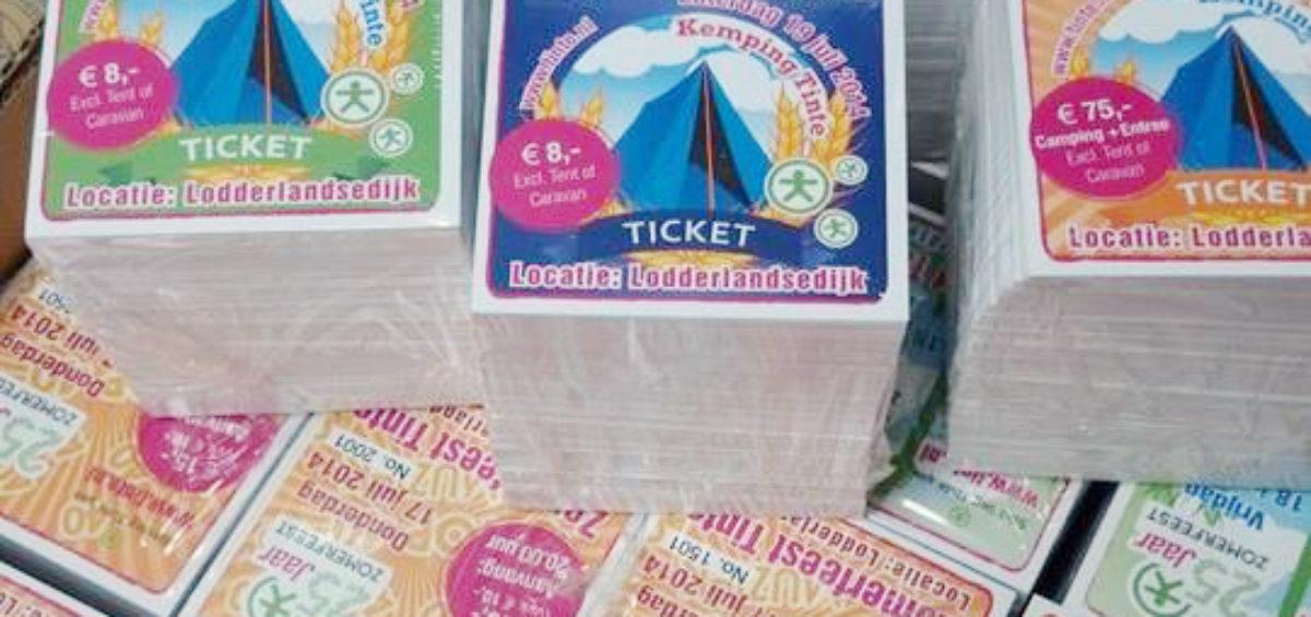 tickets 25 jaar zomerfeest Tinte