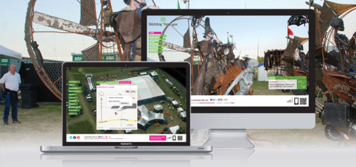 desktop website voor stichting tinte 400